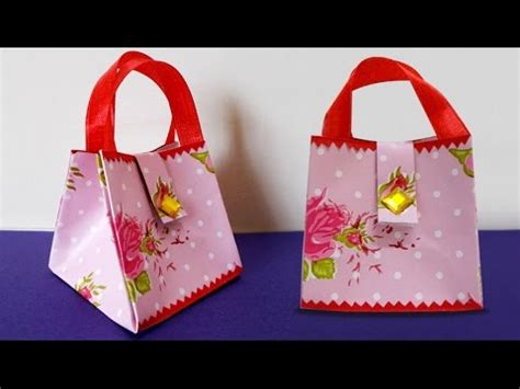 How To Make Paper Purses Crafts - diy paper crafts how to make handmade mini paper bag
