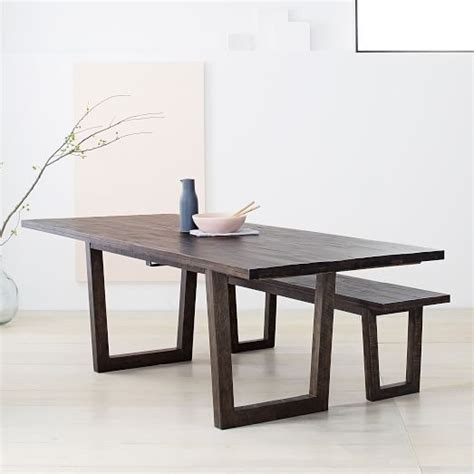 Logan Dining Table Logan Industrial Expandable Dining Table West Elm