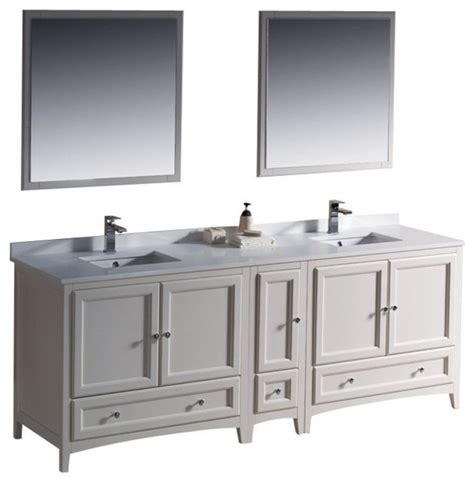 84 inch sink bathroom vanity in antique white