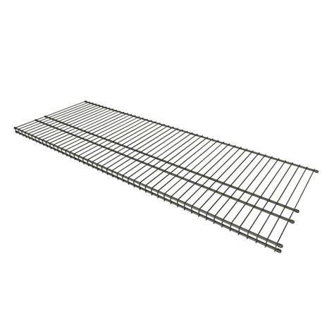 closetmaid wire shelving closetmaid superslide 48 in w x 16 in d nickel ventilated wire shelf 34726 the home depot