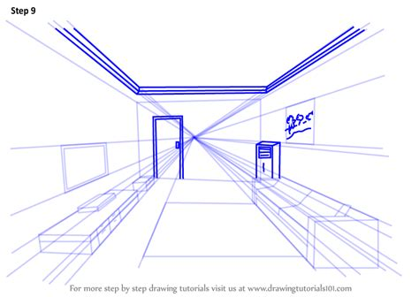 Drawing 9 Pointed by Learn How To Draw One Point Perspective Room One Point