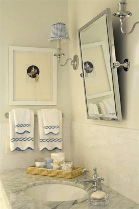 bathroom mirror with sconces gingham sconce shades country bathroom elizabeth