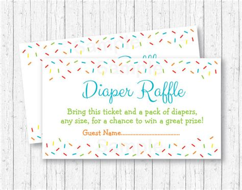 printable chance tickets blue baby sprinkle diaper raffle tickets blue baby