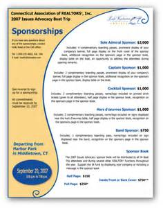 9 best images of sponsorship flyer design sponsorship