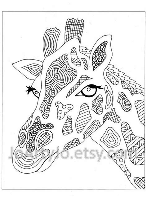 hard coloring pages of elephants coloring page elephant zentangle inspired printable