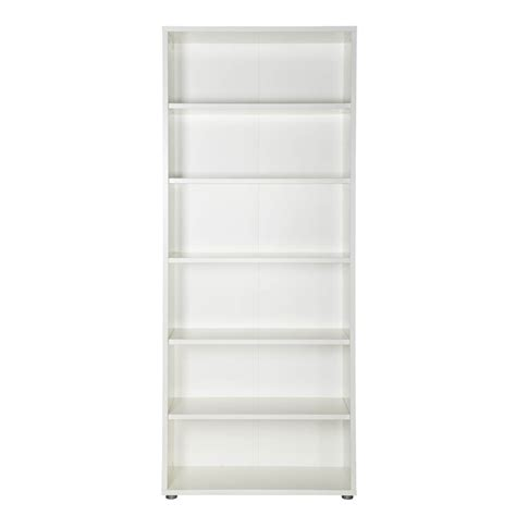 white 5 shelf bookcase prima 5 shelf bookcase white