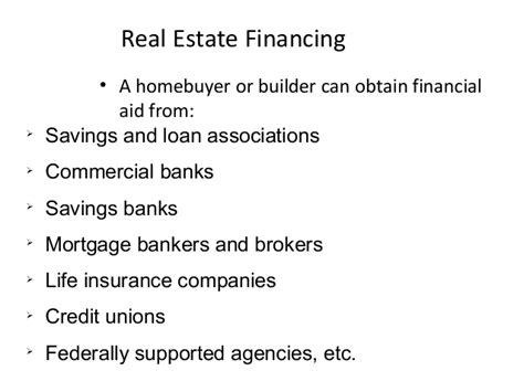 Real Estate Finance real estate finance