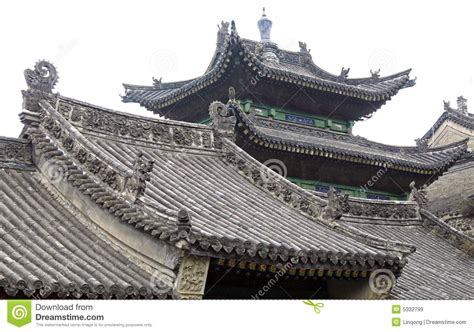ancient roofs the roof of ancient temple stock image image of pattern