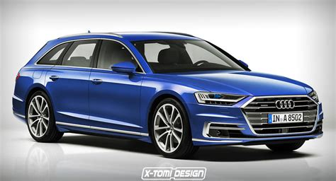 Audi A8 2018 Audi A8 Avant Rendering Is Pretty Much Predictable