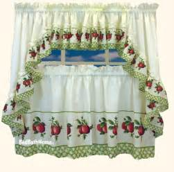 Apple Kitchen Curtains Apple Kitchen Curtains For Log Cabin Homes