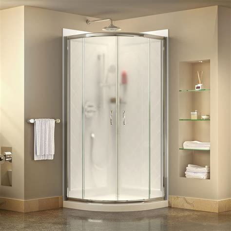 shower stalls dreamline prime 38 in x 38 in x 76 75 in corner framed