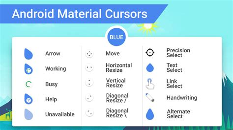 Minimalistic Design android material cursors blue by mj lim on deviantart