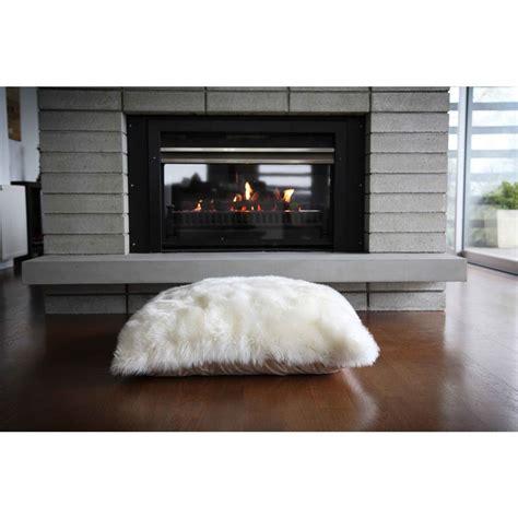 modern floor pillows mildred modern ivory wool fur floor pillow 32x32