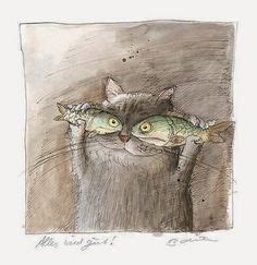Yay Or Nay Fines For Ciggy Litter by Ralph Hulett Cards Part 18 Siamese Cats