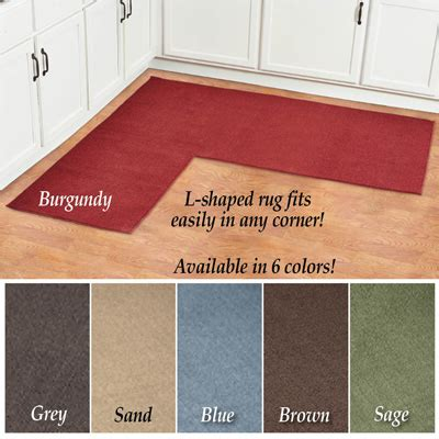 L Shaped Kitchen Rug L Shaped Berber Corner Rug Runner From Collections Etc