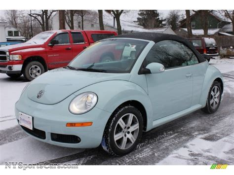 blue volkswagen beetle for sale 2006 volkswagen new beetle 2 5 convertible in aquarius