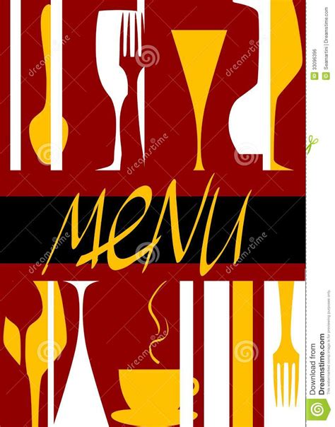 restaurant cover layout restaurant menu cover design royalty free stock image