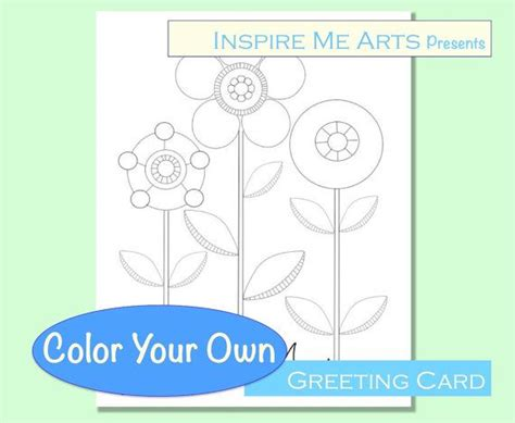 Color Your Own Cards - greeting card color your own note card diy color