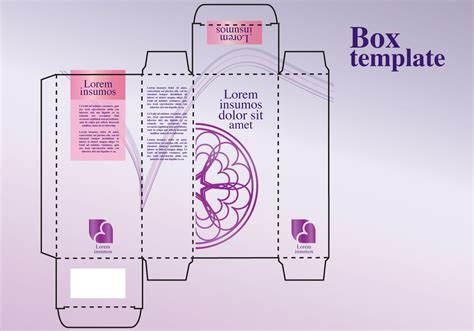 cologne box template perfume box design free vector stock
