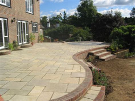 Patio F by Outdoor Paving Stones Slab Grass Joints