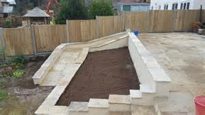 raised bed on patio large patio archives mintern building landscaping