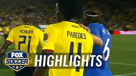 Brasil Vs Brazil Vs Ecuador 2016 Copa America Highlights