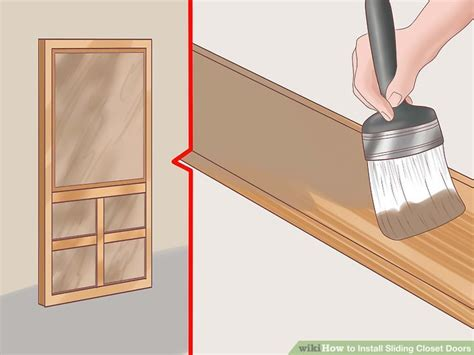how to install a sliding closet door how to install sliding closet doors 11 steps with pictures