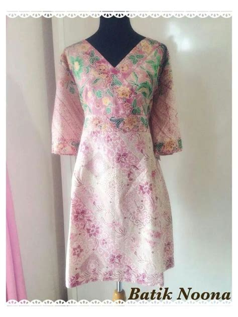 Dress Batik Tenun batik tenun indonesia batik tenun pink dress pink and