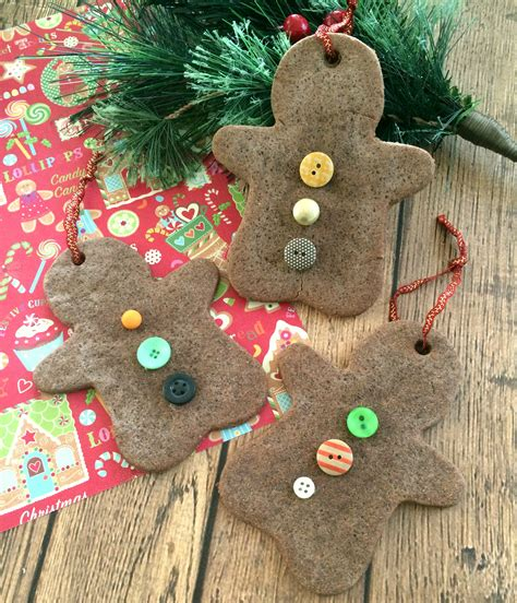 diy christmas ornaments gingerbread scented salt dough