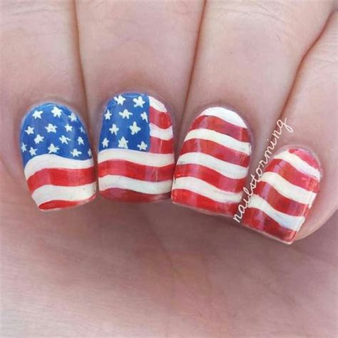 nails design usa 12 4th of july american flag nail art designs ideas