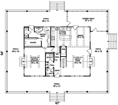 cottage country farmhouse design country house plan