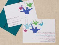 origami inspired wedding invitations origami paper crane wedding invitation suite printable file bird modern asian watercolour