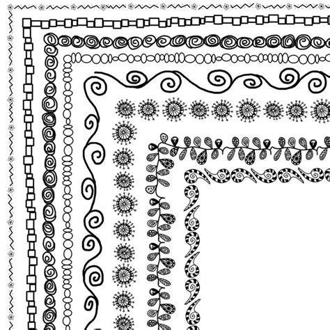 doodle border ideas 8 doodle frames 12 quot x12 quot or 8 5 quot x 11 quot a4 clip set