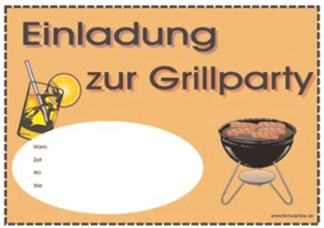 einladung zur grillparty vorlage muster zum herunterladen