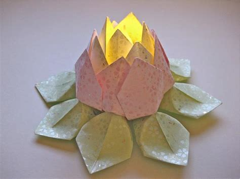 Lotus Flower Paper Folding - origami lotus flower by leathos on deviantart