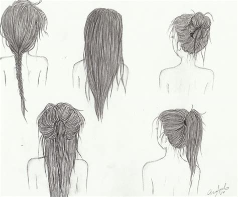 cute easy hairstyles to draw drawing image 2106424 by maria d on favim com