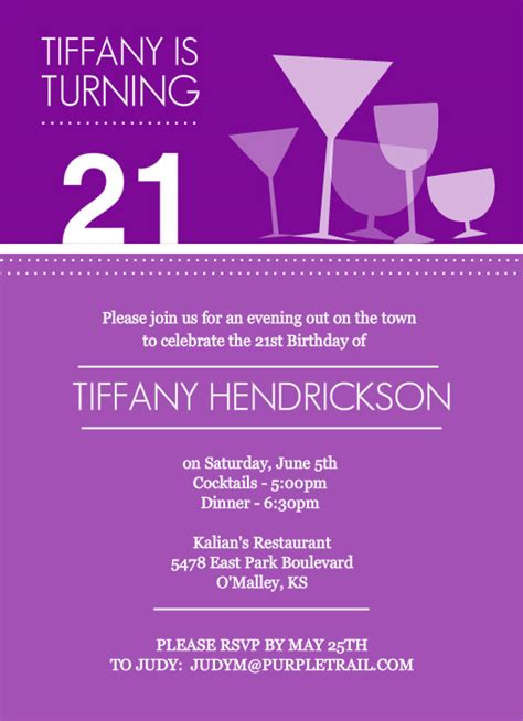 free 21st birthday invitations templates 21st birthday invitations cocktail glasses 21st birthday