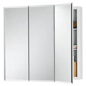 frameless medicine cabinets broan horizon frameless tri view medicine cabinet