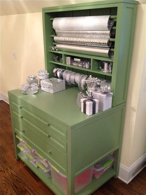silver gift wrap wrapping station organizer christmas