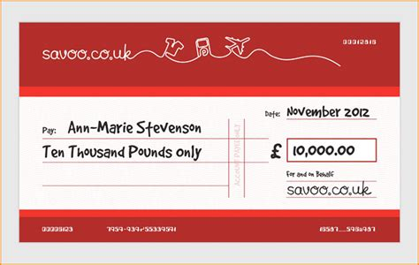 Order Fully Customised Large Presentation Cheques Online Large Presentation Cheques