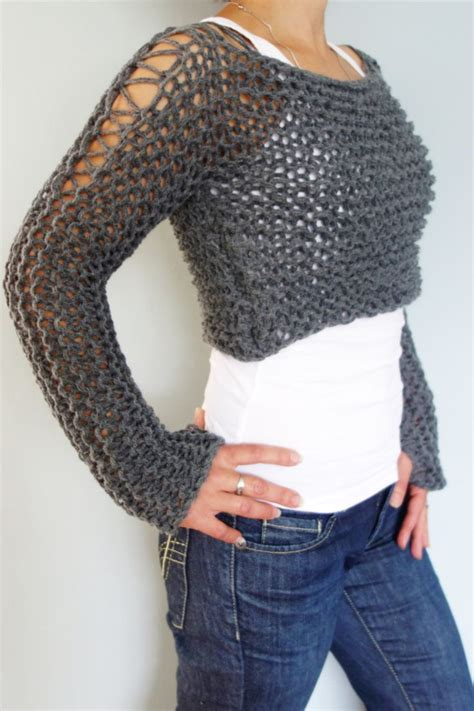 knit crop top pattern knitting pattern andra cropped thumb sweater