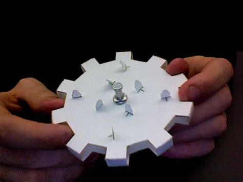 How To Make Paper Gears - how to build working gears from junkmail and cardstock