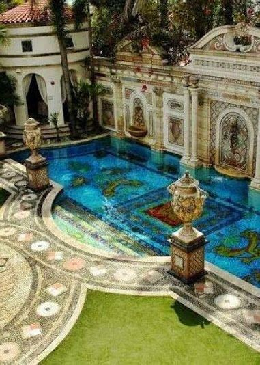 south florida homes versace s swimming pool at his former mansion in south