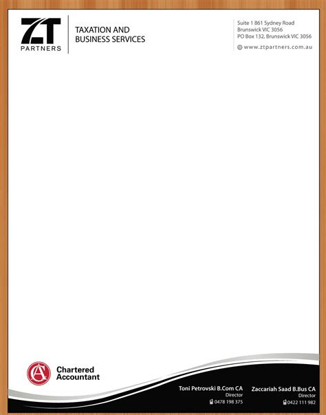 Business Letterhead Requirements Australia Letterhead Design For Toni Petrovski By Smart Design 3313834