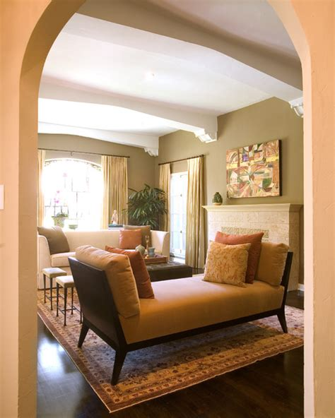 Warm Brown Living Room by Warm Living Room Transitional Living Room New