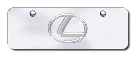 Lexus Vanity Plate by Lexus Logo Half Size License Plate Vanity Tag License