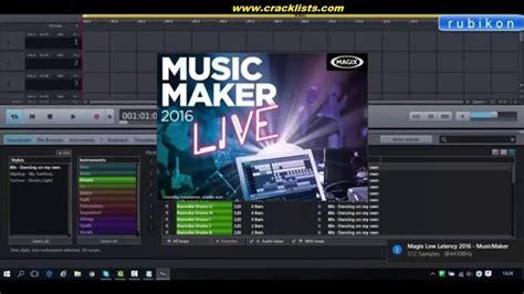 free house music maker magix music maker 2016 live v22 0 1 51 full crack free download