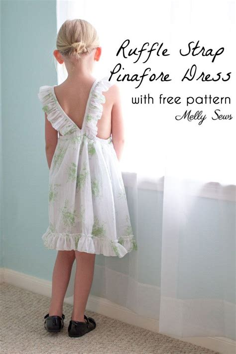 sewing apron straps ruffle strap pinafore dresses with free pattern apron