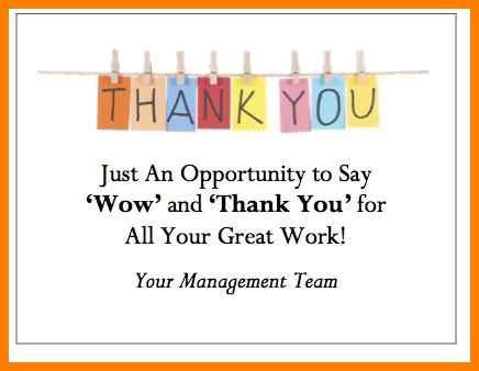 thank you card template for employees 5 thank you notes for employees officeaz