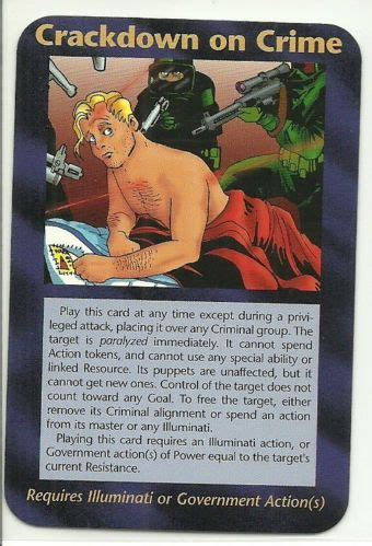 buy illuminati card crackdown on crime illuminati ccg assassins plot card